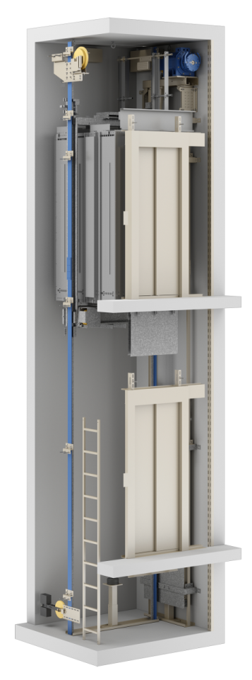 Elevator Atlas Basic axonometric