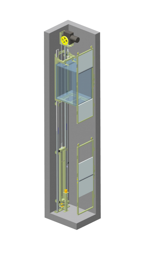 Elevator Dumbwaiter axonometric