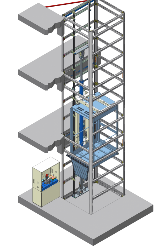 MaisoLIFT Plus axonometric